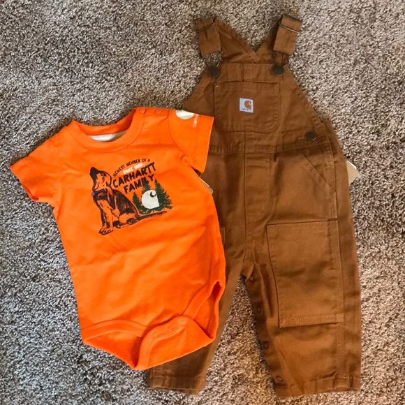 6195d2d201bb Infant boys carhartt overalls and onesie